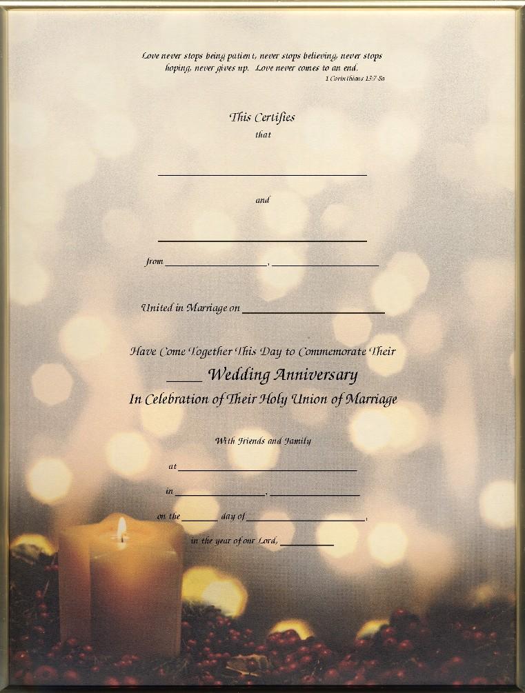 anniversary certificates