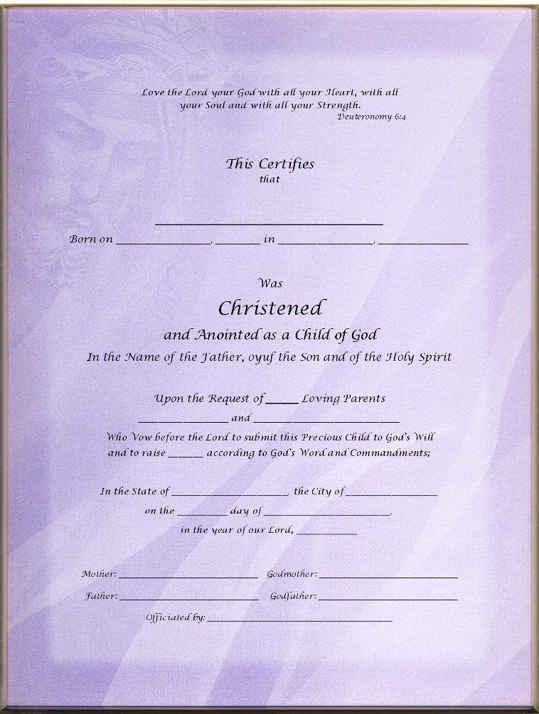 Christening Certificates Page 4 Inspired
